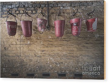 Fire Buckets Wood Print by Svetlana Sewell