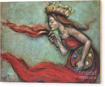 Fire Wood Print by Carrie Joy Byrnes