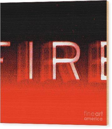 Fire Wood Print by CML Brown