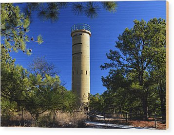 Fct7 Fire Control Tower #7 - Observation Tower Wood Print by Bill Swartwout