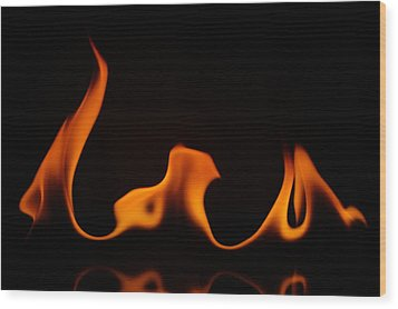 Fire Dance Wood Print by Chris Fraser