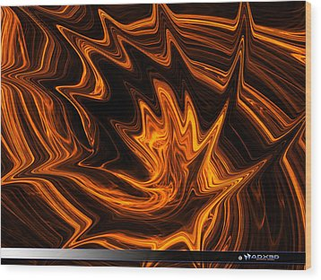 Fire Dancer Wood Print by A Dx