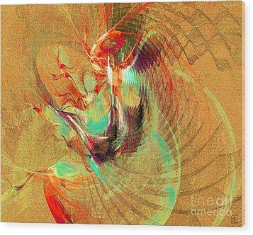 Fire Dancer Wood Print by Jeanne Liander