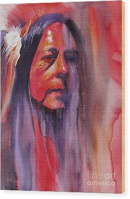 Fire Dancer Wood Print by Robert Hooper