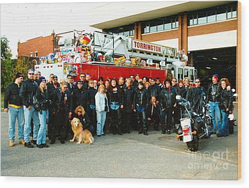 Fire Dept. Toy Run Wood Print
