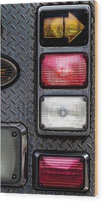 Fire Engine  Wood Print by Bob Orsillo
