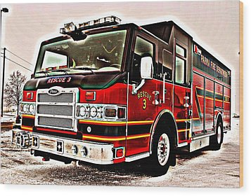 Fire Engine Red Wood Print by Frozen in Time Fine Art Photography