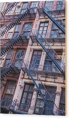 Wood Print featuring the photograph Fire Escape by Chris McKenna