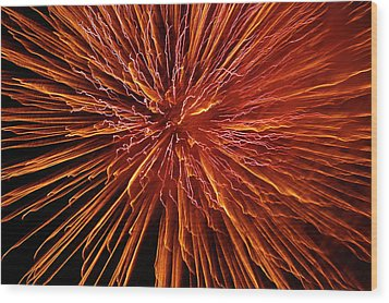Fire In The Sky Wood Print by Carolyn Marshall