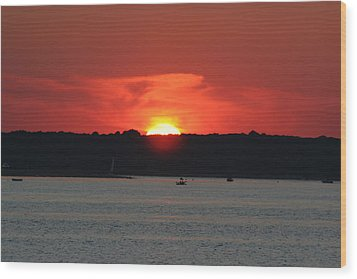 Wood Print featuring the photograph Fire In The Sky by Karen Silvestri