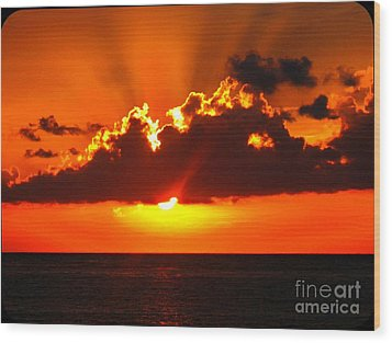 Fire In The Sky Wood Print by Patti Whitten