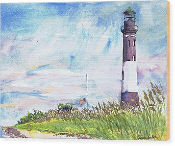 Fire Island Lighthouse Late Summer Wood Print by Susan Herbst