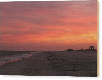 Fire Island Sunset Wood Print