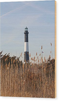 Wood Print featuring the photograph Fire Island Tower by Karen Silvestri