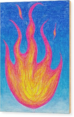 Fire Of Life Wood Print