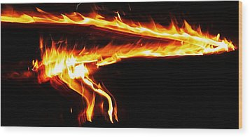 Wood Print featuring the photograph Fire On High... by Al Fritz