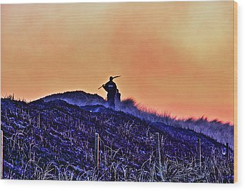 Fire On The Dunes Wood Print by Tony Reddington