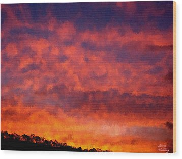 Fire On The Hillside Wood Print by Bruce Nutting