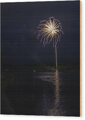 Fire On The River Purple Wood Print by Tim Radl