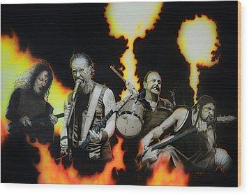 Metallica - ' Fire Rain On Me ' Wood Print by Christian Chapman Art