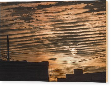 Wood Print featuring the photograph Fire Sky by Beverly Parks
