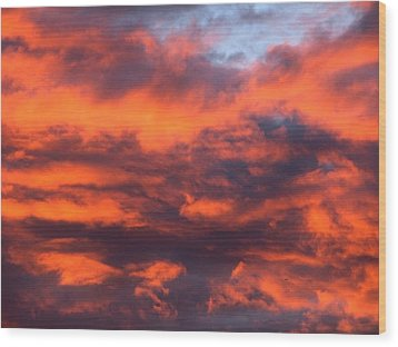 Fire Sky Wood Print by Chris Dunn