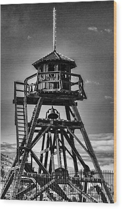 Fire Tower 2 Wood Print by Fran Riley