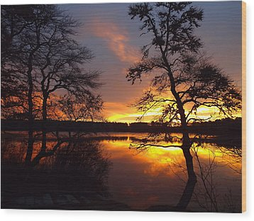 Wood Print featuring the photograph Sunrise Fire by Dianne Cowen