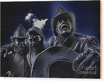 Firefighter Heroes Wood Print