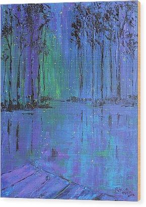 Fireflies Wood Print by Patricia Olson