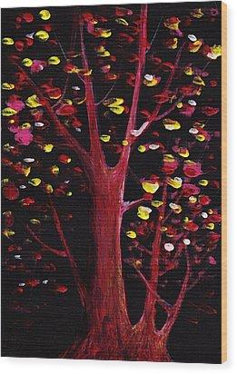 Firefly Dream Wood Print by Anastasiya Malakhova