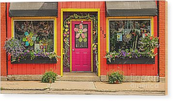 Wood Print featuring the photograph Firefly Floral Shop by Trey Foerster