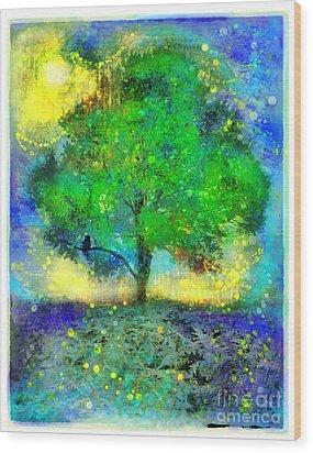 Firefly Summer Nights Wood Print