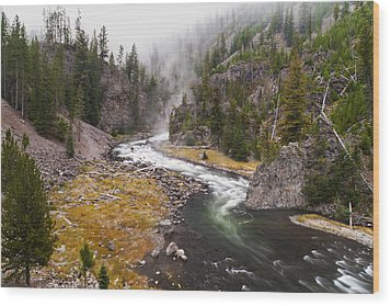 Firehole Canyon - Yellowstone Wood Print by Brian Harig