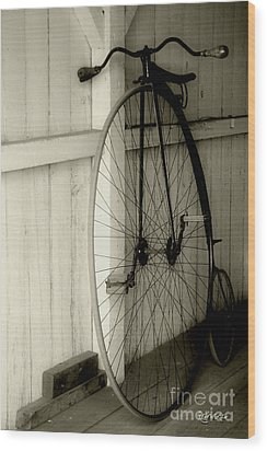 Firehouse Velocipede Wood Print by RC deWinter