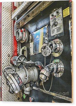 Fireman - Control Panel Wood Print by Paul Ward