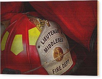 Fireman - Hat - Everyone Loves Red Wood Print by Mike Savad