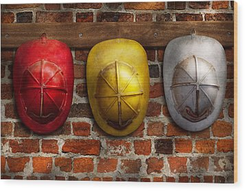 Fireman - Hats - Pick A Hat Any Hat  Wood Print by Mike Savad
