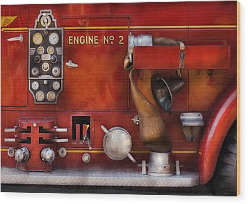 Fireman - Old Fashioned Controls Wood Print by Mike Savad