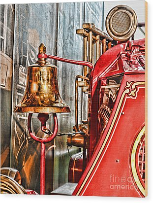 Fireman - The Fire Bell Wood Print by Paul Ward