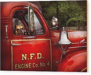 Fireman - This Is My Truck Wood Print by Mike Savad