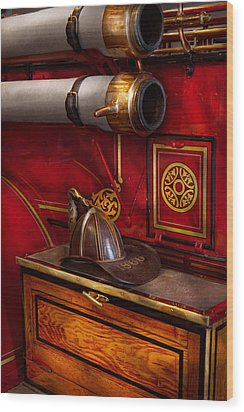 Firemen - An Elegant Job  Wood Print by Mike Savad