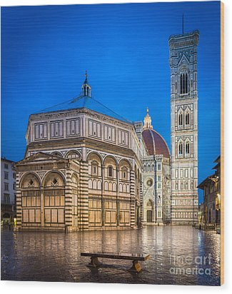 Firenze Duomo Wood Print by Inge Johnsson