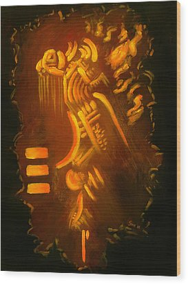 Firesign Wood Print by Sarai Rosario