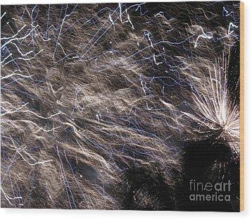 Firework - Feu D'artifice - Ile De La Reunion - Reunion Island - Indian Ocean Wood Print by Francoise Leandre