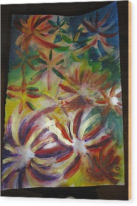 Firework Flower Wood Print by Eric Birmingham