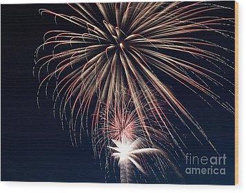 Firework Stack Wood Print by Jason Meyer
