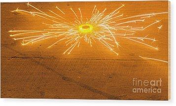 Firework Wheel Wood Print by Image World