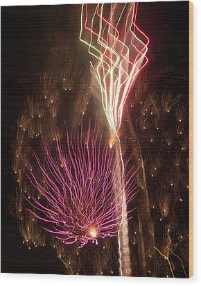 Fireworks Wood Print by Aimee L Maher Photography and Art Visit ALMGallerydotcom