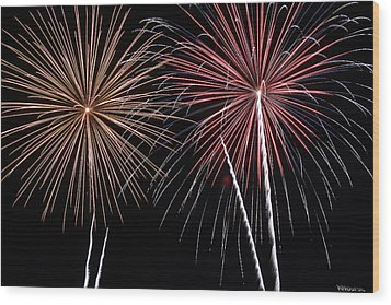 Fireworks Wood Print by Andrew Nourse